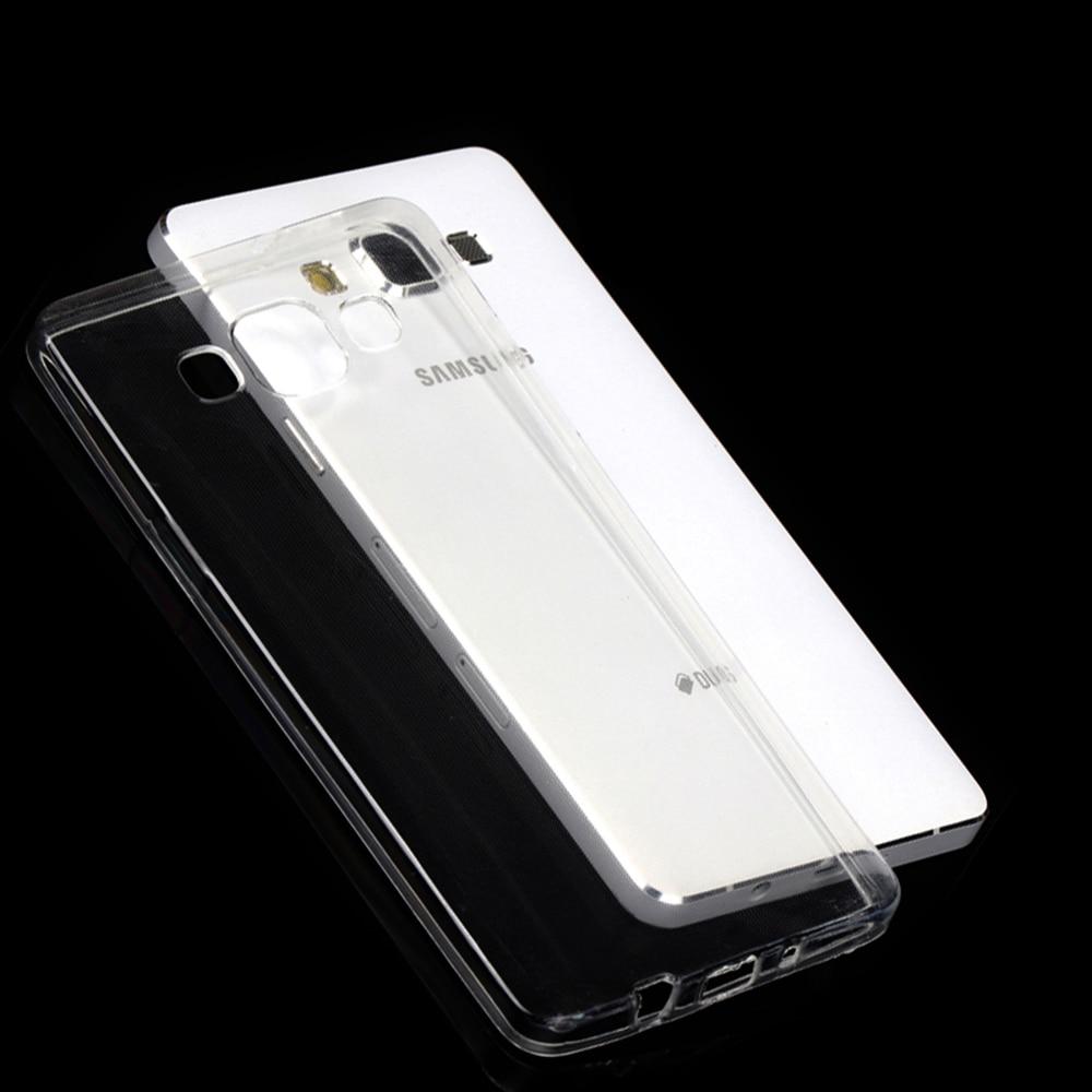 Caso de Galaxy A3 A5 A6S A7 A8 A8S A9 A9S On5 On7 Core2 gran alfa G850 primer Plus 2016 2017 2018 cubierta TPU funda de silicona transparente