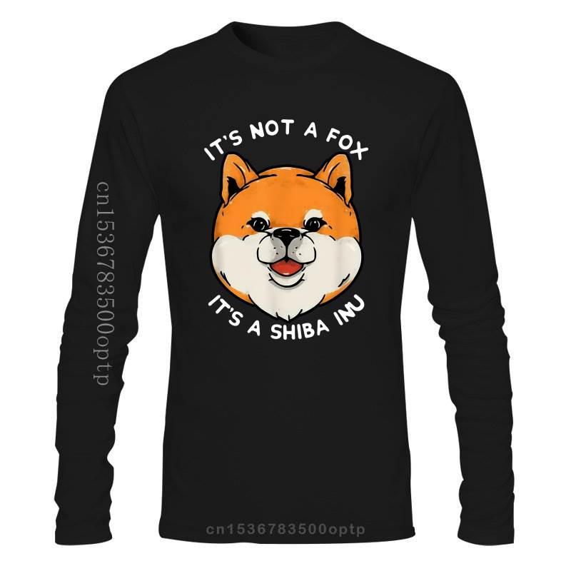 New It'S Not A Fox It'S A Shiba Inu Funny Shibe Black T-Shirt For Dog'S Lovers S-3Xl For Youth Middle-Age Old Age Tee Shirt
