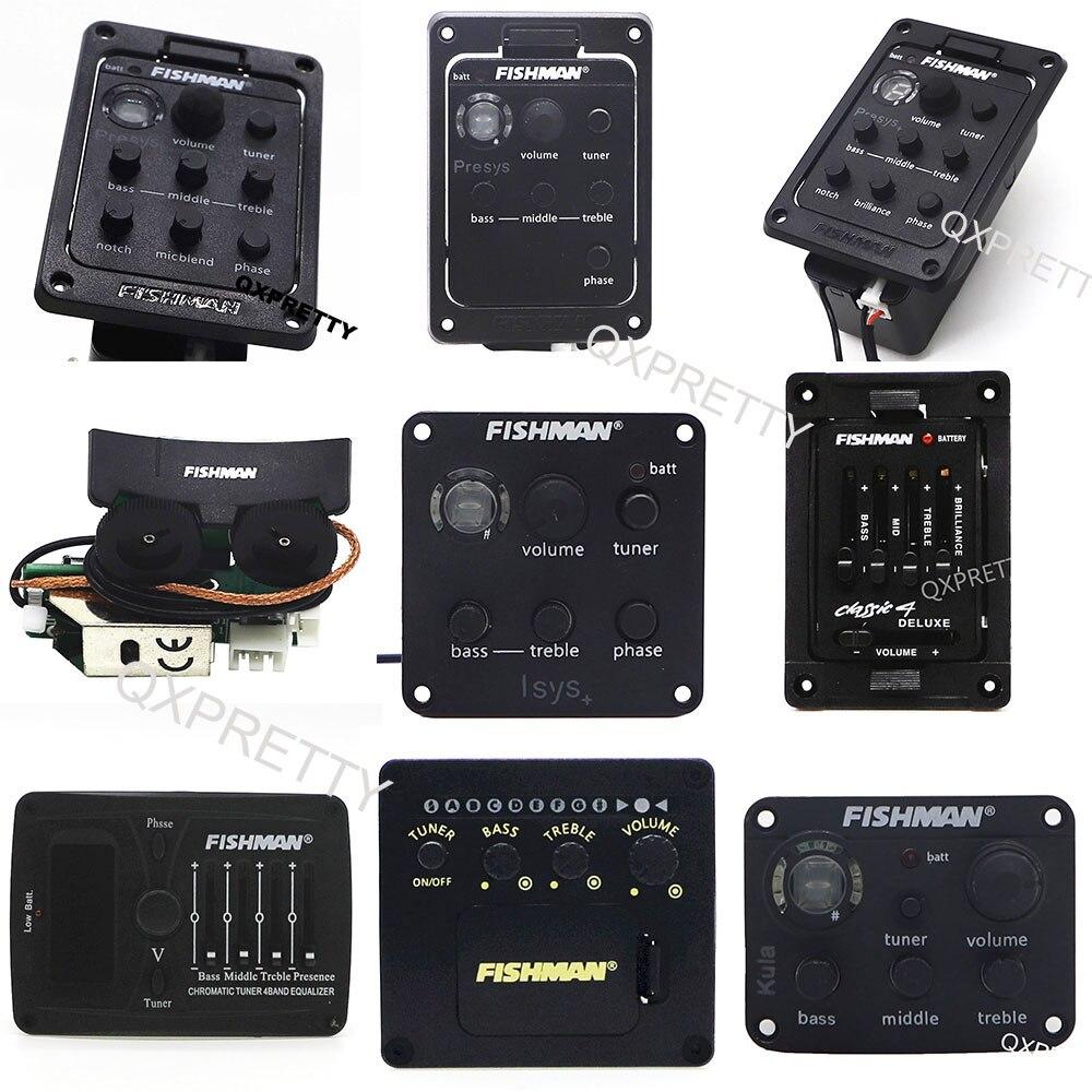 ميكروفون طراز 301 من FISHMAN Presys طراز مزدوج 201 Plus 101 Isys + جهاز Sonitone Classic4 جهاز ضبط البادئ EQ جهاز ضبط جيتار بيزو لاقط كولا