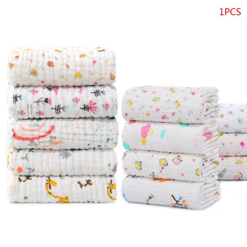 6 camadas de toalhas de banho do bebê crianças toalha de banho musselina pano roupão envoltório cobertor qualidade superior