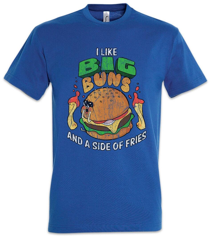 Camiseta I Like Big Buns barbacoa Chef cocinar hamburguesa divertida hamburguesa queso bollo