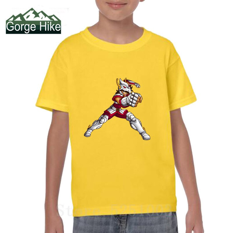 2019 Pegasus Seiya de Saint Seiya, camiseta divertida de Manga de Anime japonés, camisetas de cómic Harajuku con estampado en 3D, camisetas de diseño de chico zodiaco