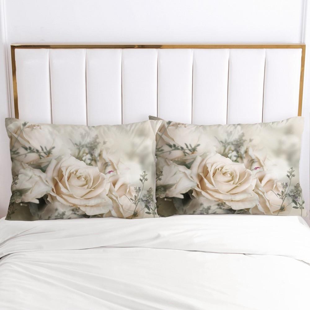 3D poszewka na poduszkę poszewka na poduszkę niestandardowe 20x26in 20x36in dekoracyjna poszewka na poduszkę pościel na ślub kwiaty Drop Ship tekstylia domowe