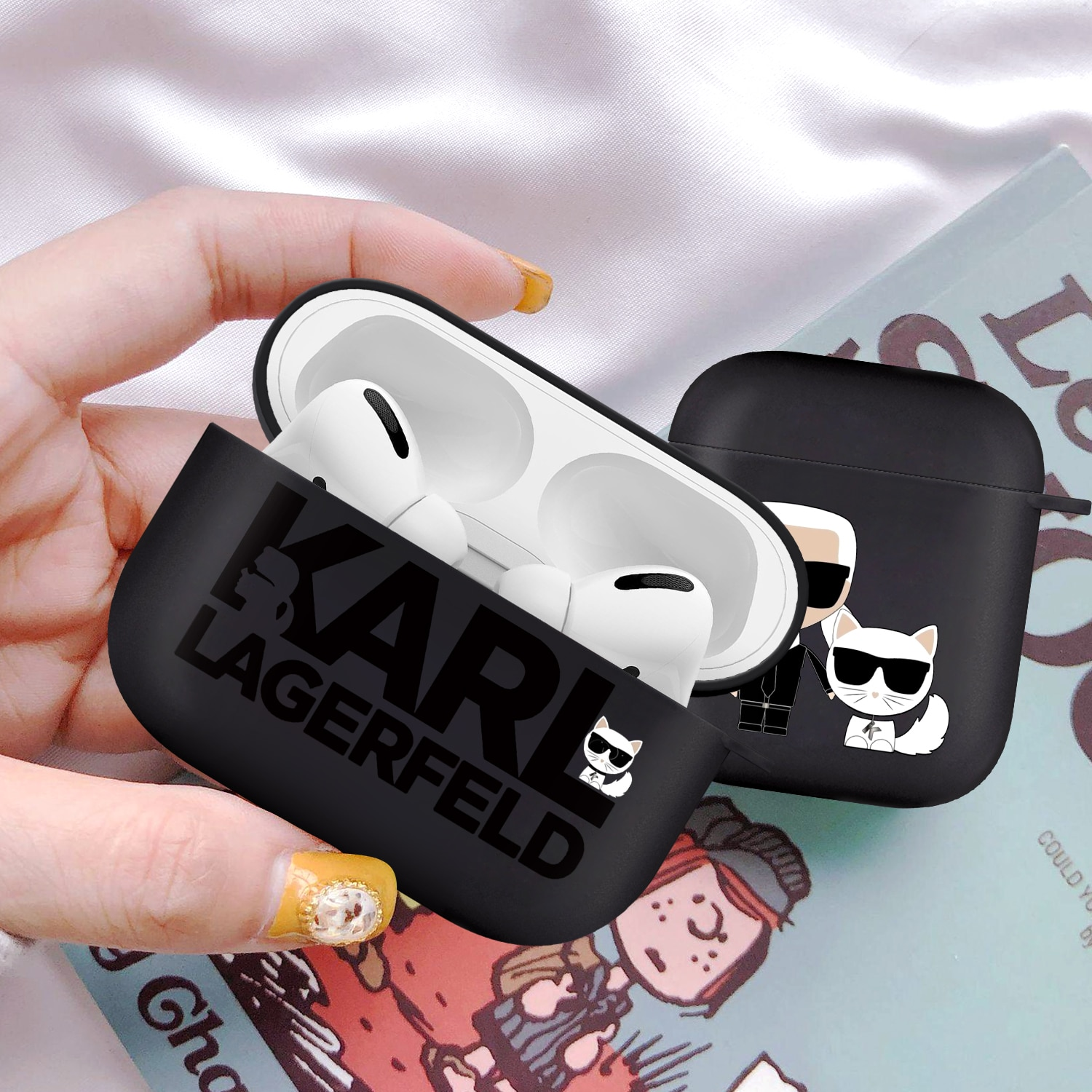 Soft Silicone Cases For Apple Airpods 2/1 Fashion Brand designer Wireless Earphone Cover For AirPods