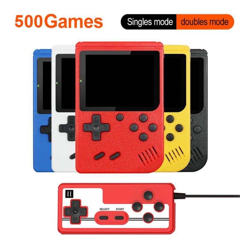 Портативная мини-консоль для видеоигр в стиле ретро, 8 бит, 3,0 дюйма, цветной ЖК-дисплей, Детская цветная игровая консоль, 500 встроенных игр