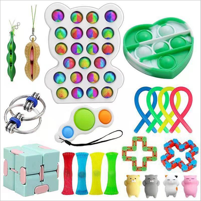 Pop Fidget Reliver Stress Toys Rainbow Push It Bubble Antistress Toys Adult Children Sensory Toy To Relieve Autism Stress Toys enlarge