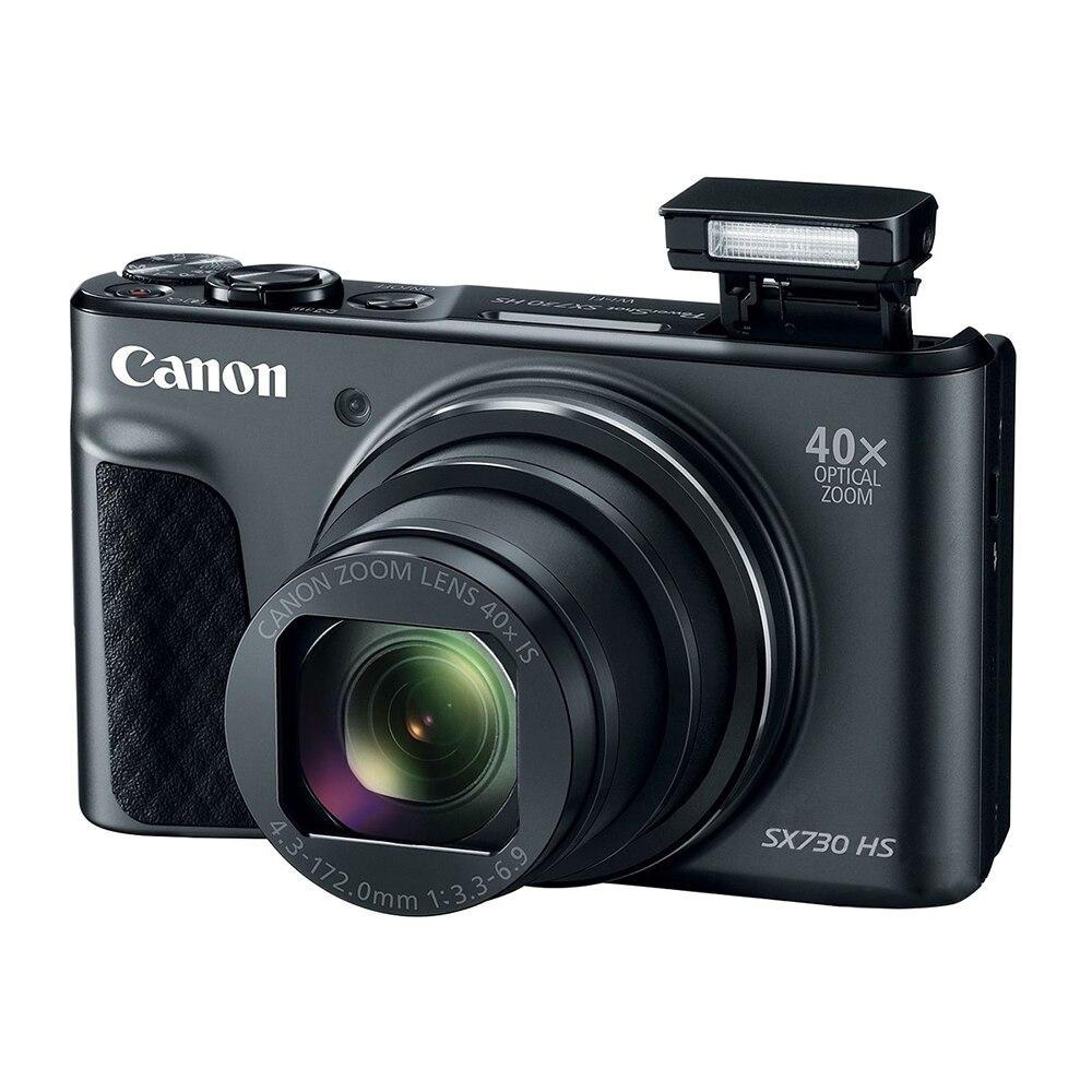 كاميرا رقمية كانون SX730 باور شوت SX730 HS (أسود)-تكبير 40x-فيديو 4K-واي فاي