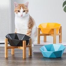 Keramik Gekippt Katze Hund Schüssel Katze Lebensmittel Wasser Schüssel Schüssel Pet Komfort Fütterung Schalen