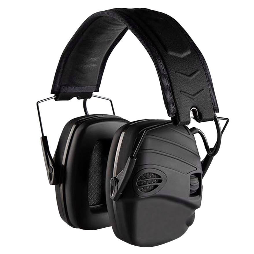 غطاء أذن إلكتروني من NRR 25DB ، حماية إلكترونية للصيد ، غطاء للأذنين (أسود)
