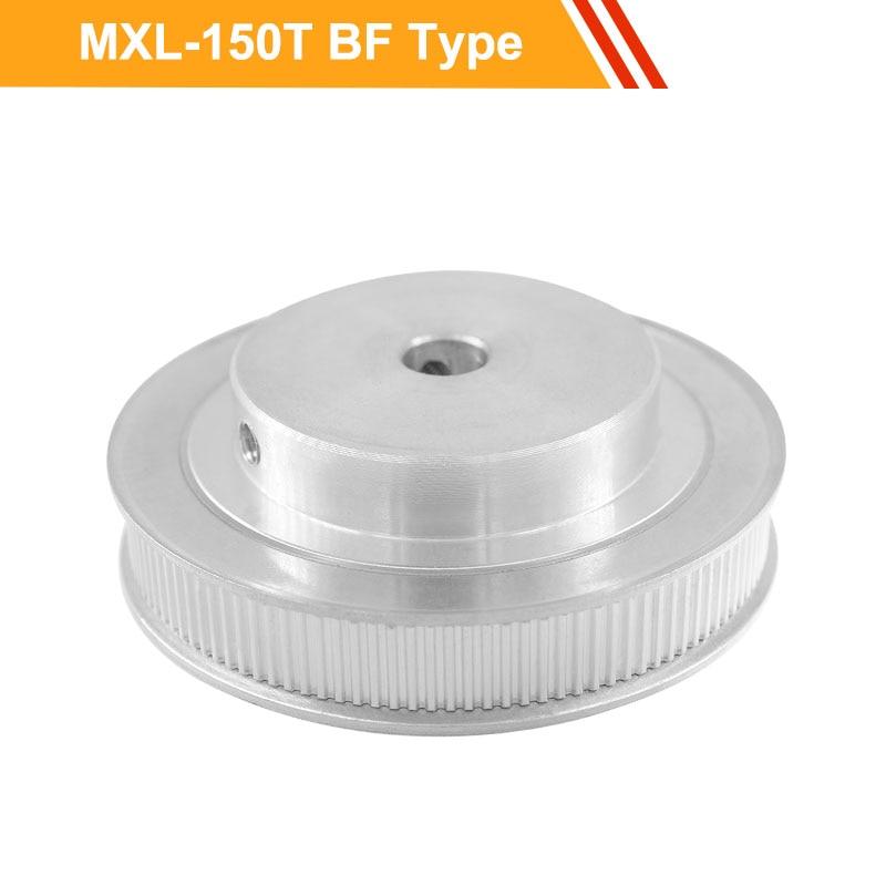 MXL 150T الألومنيوم توقيت بكرة 11 مللي متر حزام عرض MXL نوع الأسنان حزام بكرة 8/10/12/14/19/20 مللي متر تتحمل انتقال بكرة