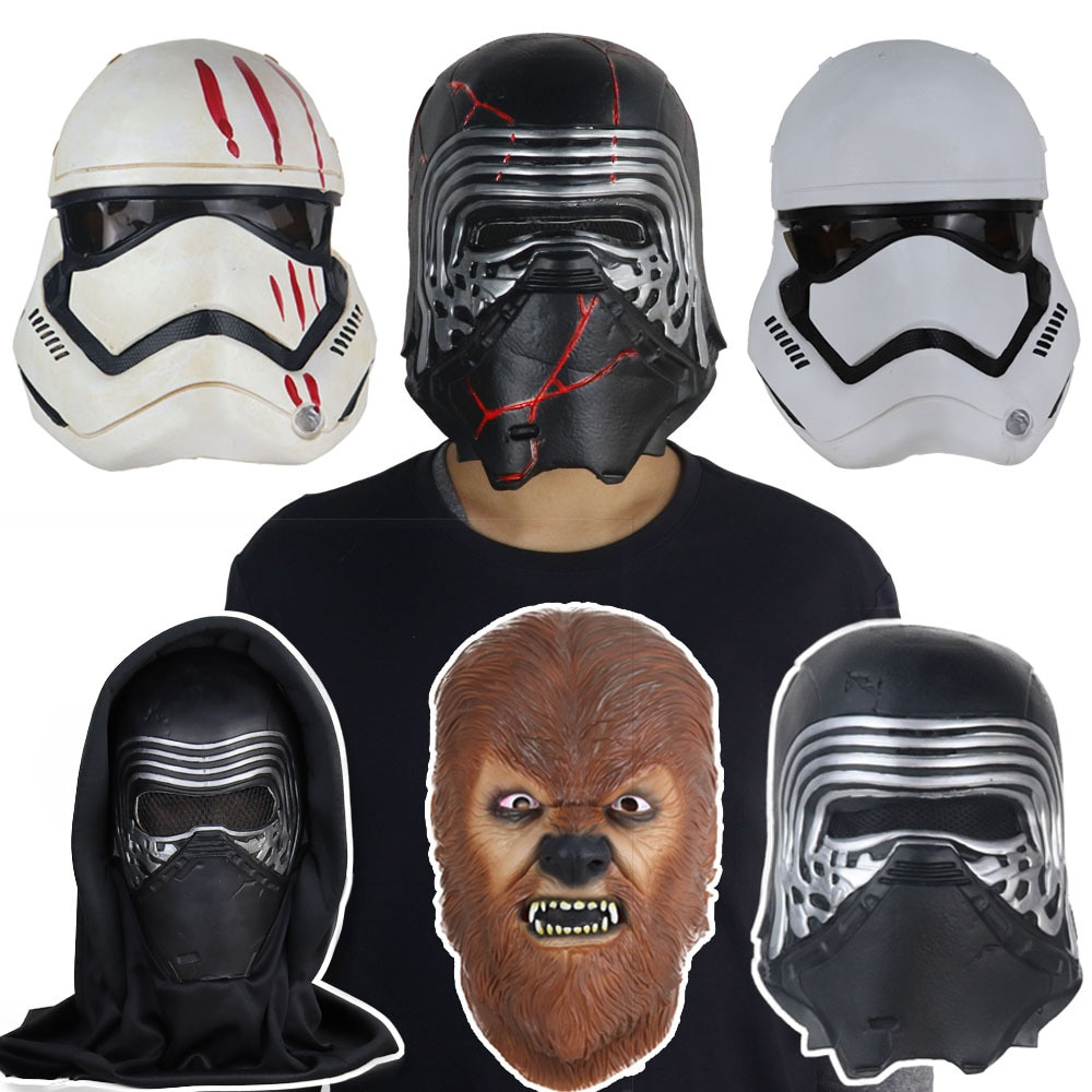 Star Wars The Rise of Skywalker latex mask Halloween Costume Party helmet Stormtrooper Cosplay props