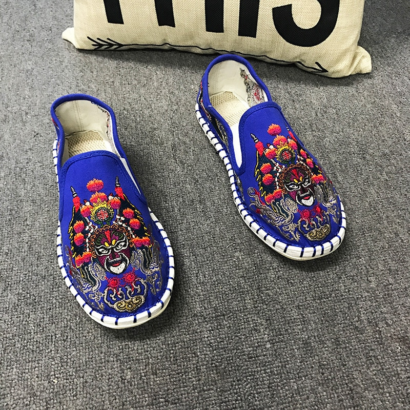 Модная тканевая вышитая обувь для мужчин и женщин; Обувь на плоской подошве; Женские и мужские парусиновые эспадрильи в стиле Харадзюку; Лоф...