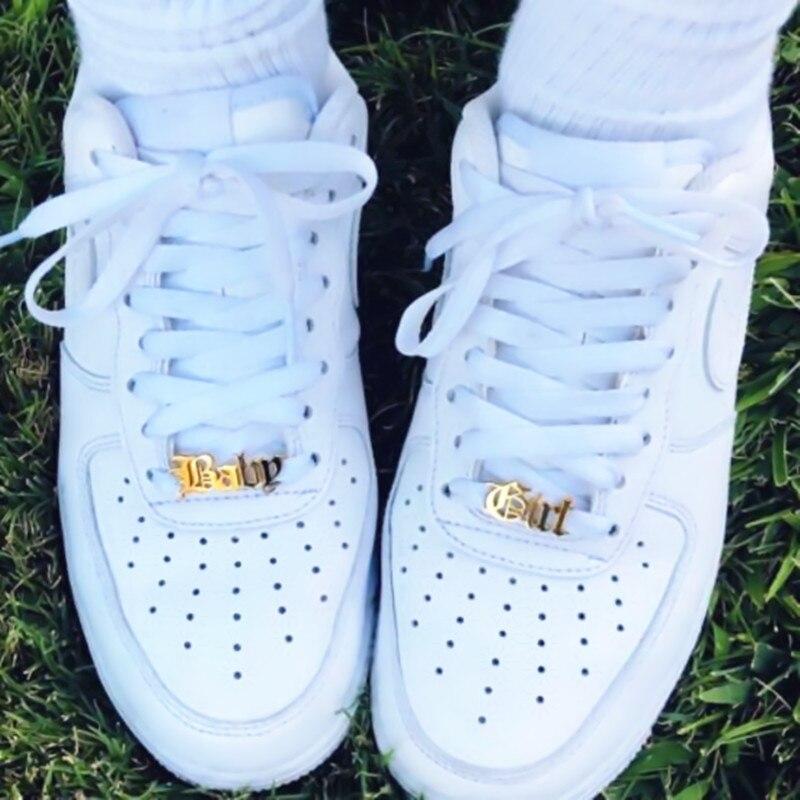 Accesorios de acero inoxidable para zapatos de bebé niña, nombre personalizado, hebilla de zapatos, joyería Boho, Kpop, placa de identificación personalizada, Buckie Kids