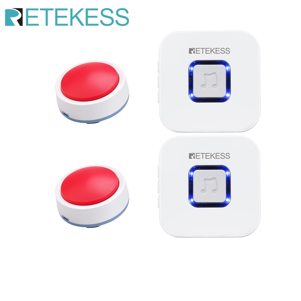 Retekess TH003 Wireless Caregiver Pager Nurse Calling Alert Patient Help System for Home Care/Personal Attention