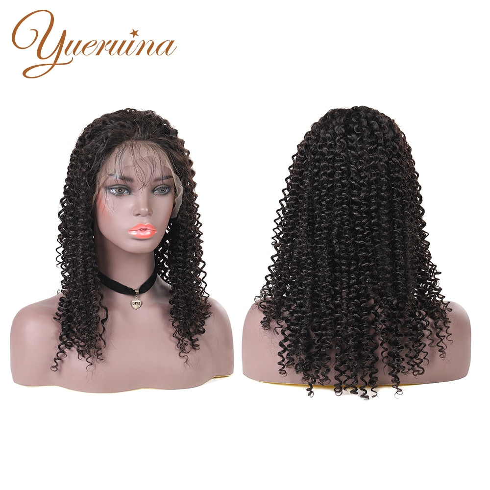 Lace Front Wigs Jerry Curl Human Hair Wigs For Black Women Pre-Plucked Brazilian Curly Wigs 180% Density 13X4 Hair Wigs