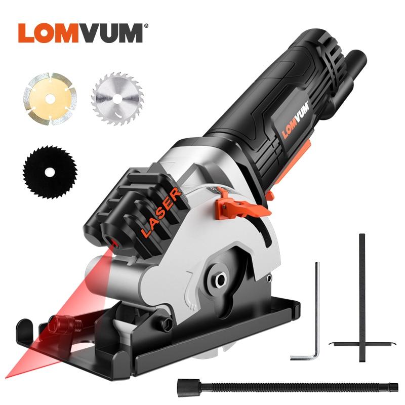 LOMVUM Mini Kreissäge Mit Laser 480W Elektrische Power Werkzeuge Multifunktions Elektrische Säge Für Holz Schneider Rund Mit Klinge