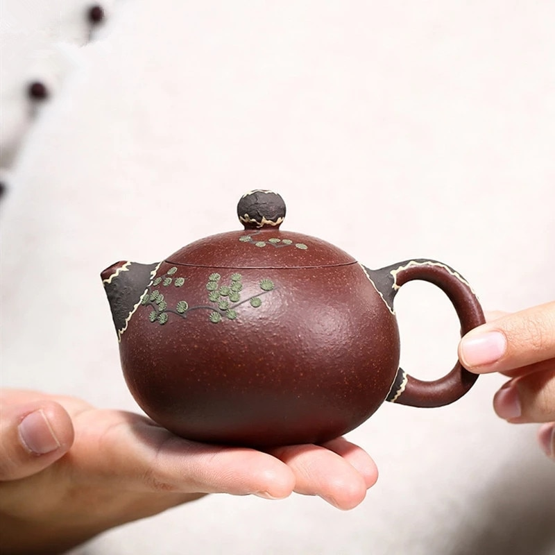Yixing-إبريق شاي Xishi كلاسيكي ، فلتر طين أرجواني ، غلاية تجميل ، خام ، صناعة يدوية ، بوتيك Zisha ، 140 مللي