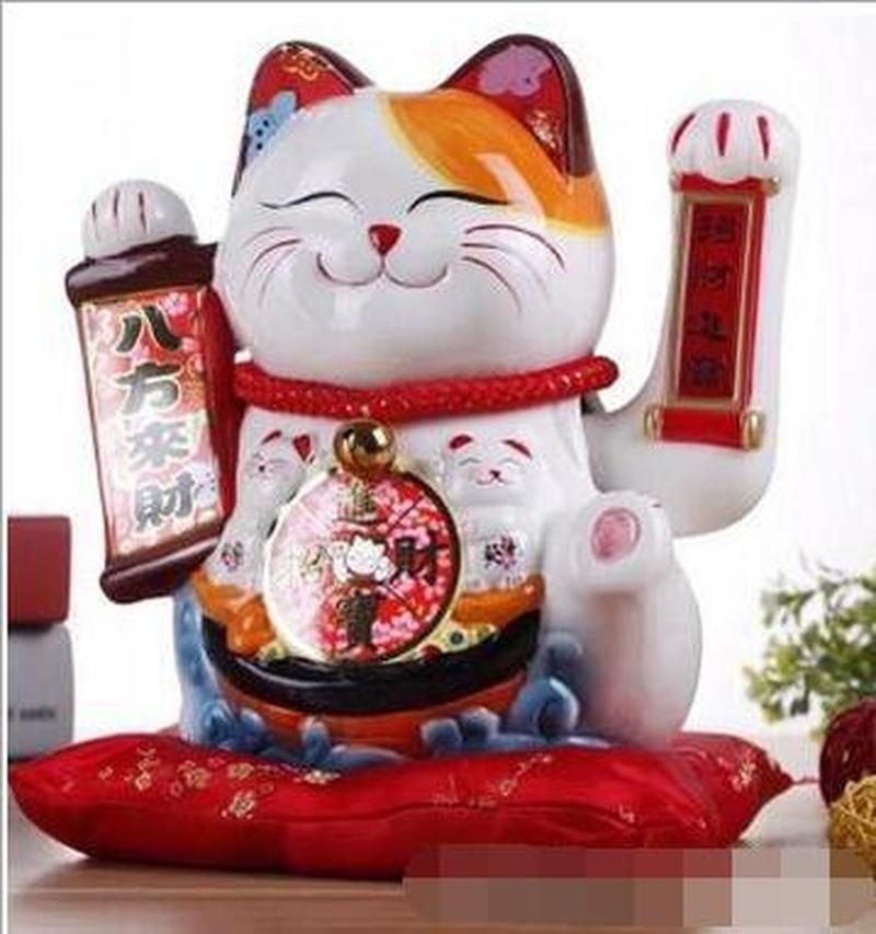 10-дюймовая ручная машущая рука, счастливая кошка, кот удачи, подарок, Манеки, дешево, фэн-шуй, поделки, копилка