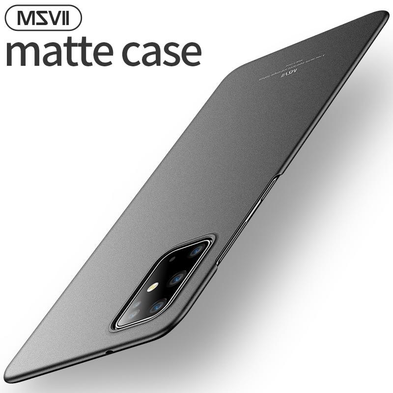 Msvii caso de telefone de luxo para samsung s20 plus ultra fino fino capa traseira para samsung s20 uitra protetora caso fosco