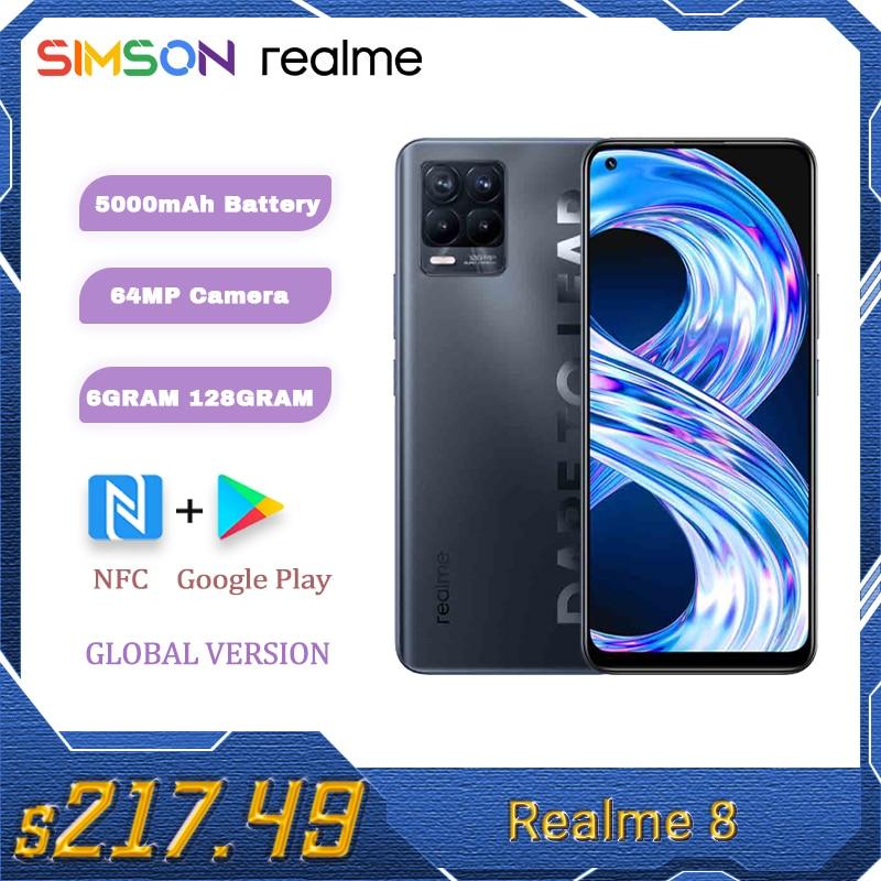 هاتف ذكي من realme 8 5G بذاكرة وصول عشوائي 6 + 128 جيجا بايت وذاكرة قراءة فقط 90 هرتز بشاشة فائقة النعومة طراز 700 بذاكرة وصول عشوائي 5 جيجا بايت وبطارية ...