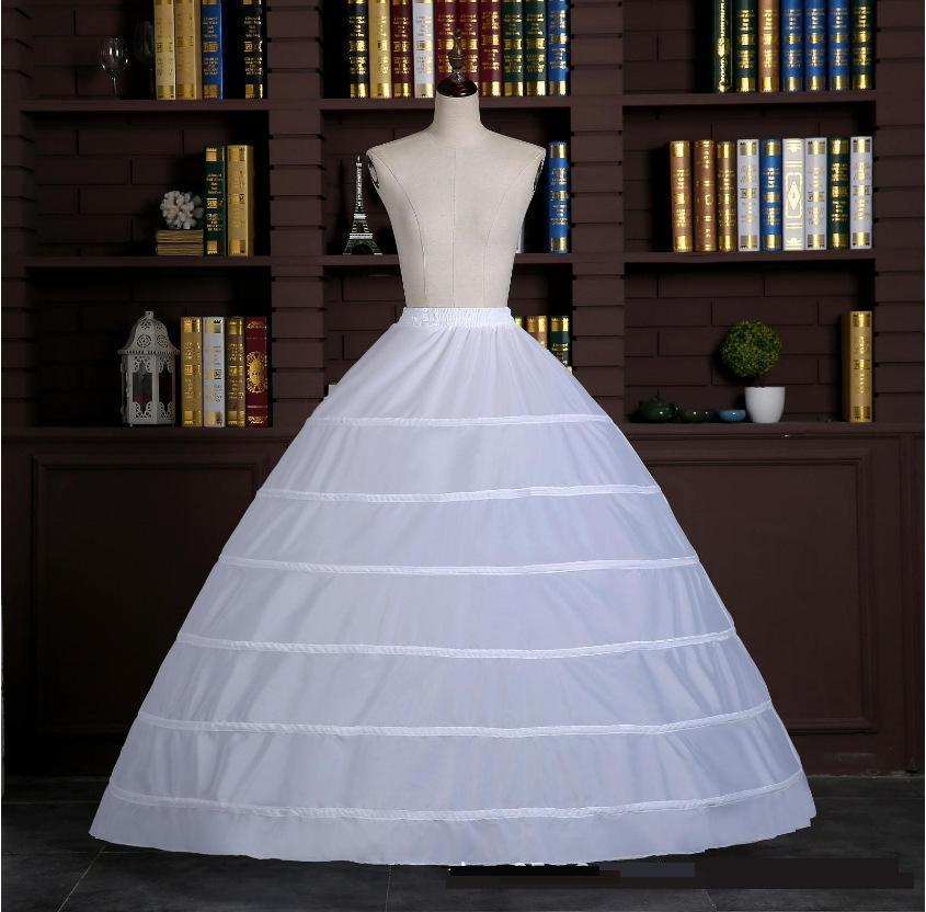 Ezkuntza grande 6 anéis branco petticoat para o vestido de casamento pode ser faixa elástica ajustável rendas até acessórios de casamento tule branco