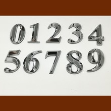 3D 5cm/7cm Self Adhesive Door Number Sign House Number Digit Apartment Hotel Office Door Address Street Stickers Plate Sign