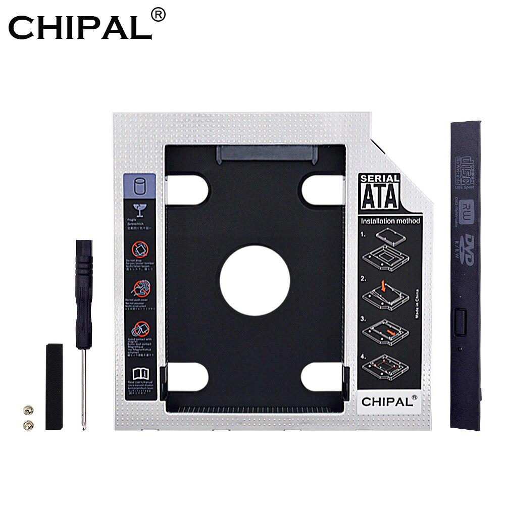 Chipal 2nd hdd caddy 12.7mm optibay sata 3.0 2.5 adapter 2 2tb ssd hdd disco rígido gabinete caixa adaptador para portátil dvd/CD-ROM
