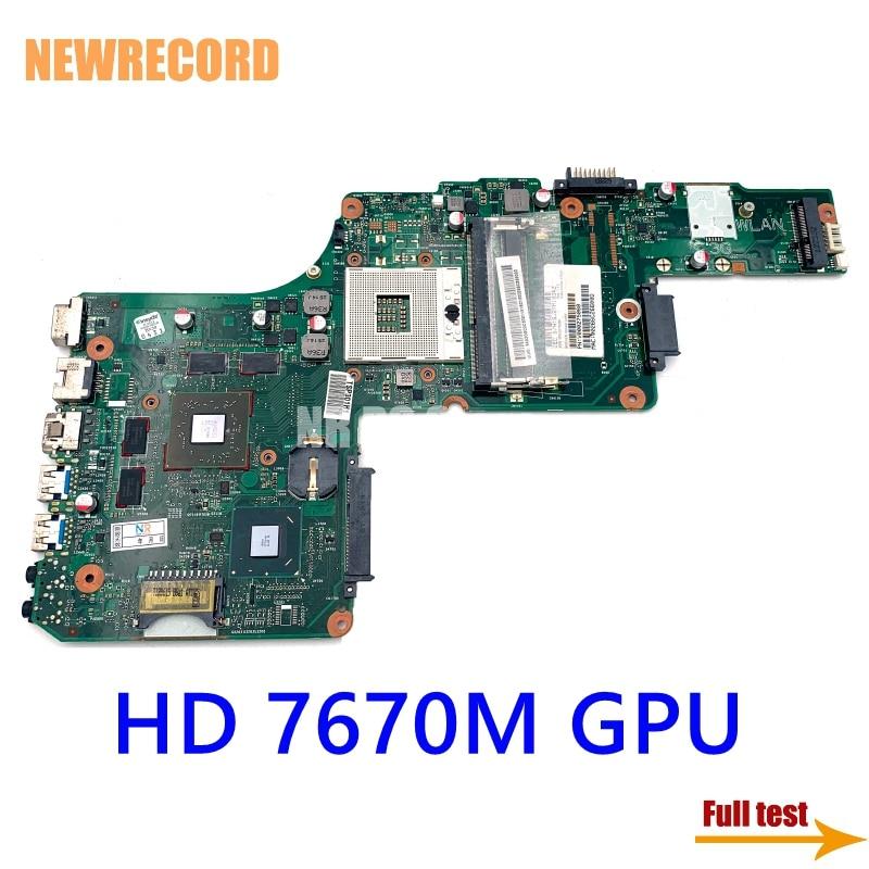 نيوسجل V000275060 DK10FG-6050A2491301-MB-A03 لتوتوشيبا الأقمار الصناعية S855 C855 L855 اللوحة الأم المحمول HD 7670 متر وحدة معالجة الرسومات HM76 DDR3