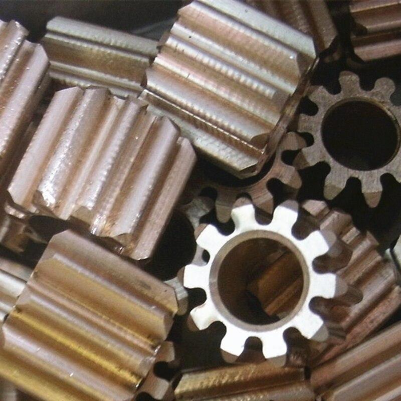 1M 10/12 Teeth Copper M3 Screw Gear 5/6MM DIY Remote Control Aircraft Motor Reducer Rocker Arm