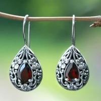 new water drop pear shaped ruby earrings vintage womens earrings anniversary gift engagement bridal wedding earrings jewelry
