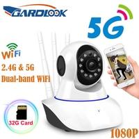 Камера видеонаблюдения GARDLOOK, инфракрасная камера безопасности с функцией ночного видения, 1080 пикселей, поддержка приложения, 2,4 ГГц, 5G, двух...