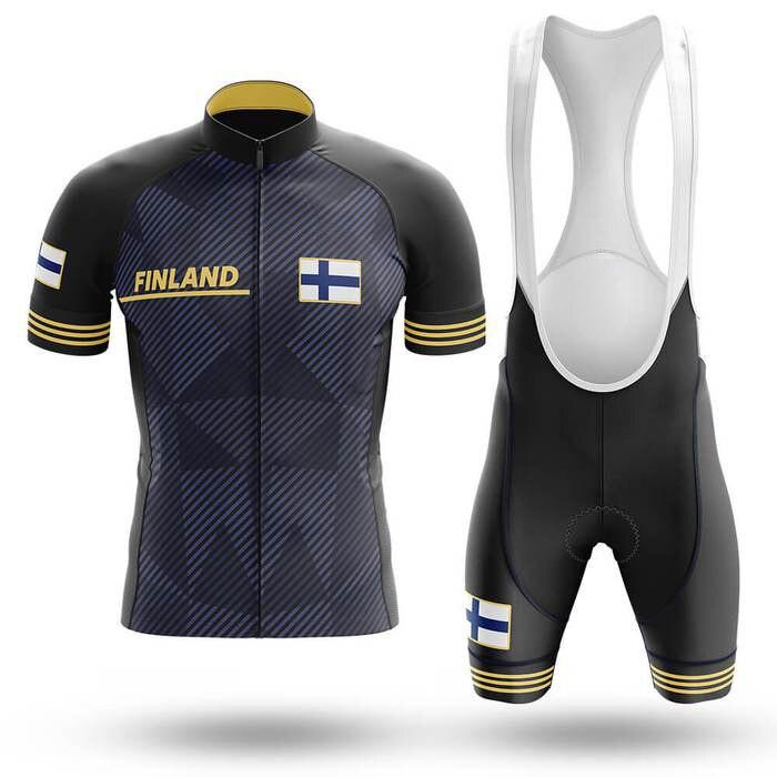 2020 Finland Cycling Jersey MTB Mountain bike Clothing Men Short Set Ropa Ciclismo Bicycle Wear Clothes cycling dress men