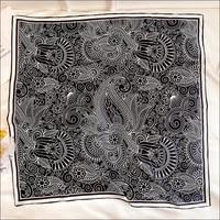 paisley silk designer scarf shawl square scarf bandana 9090cm silk scarf hand rolled edges foulard satin designer head scarves