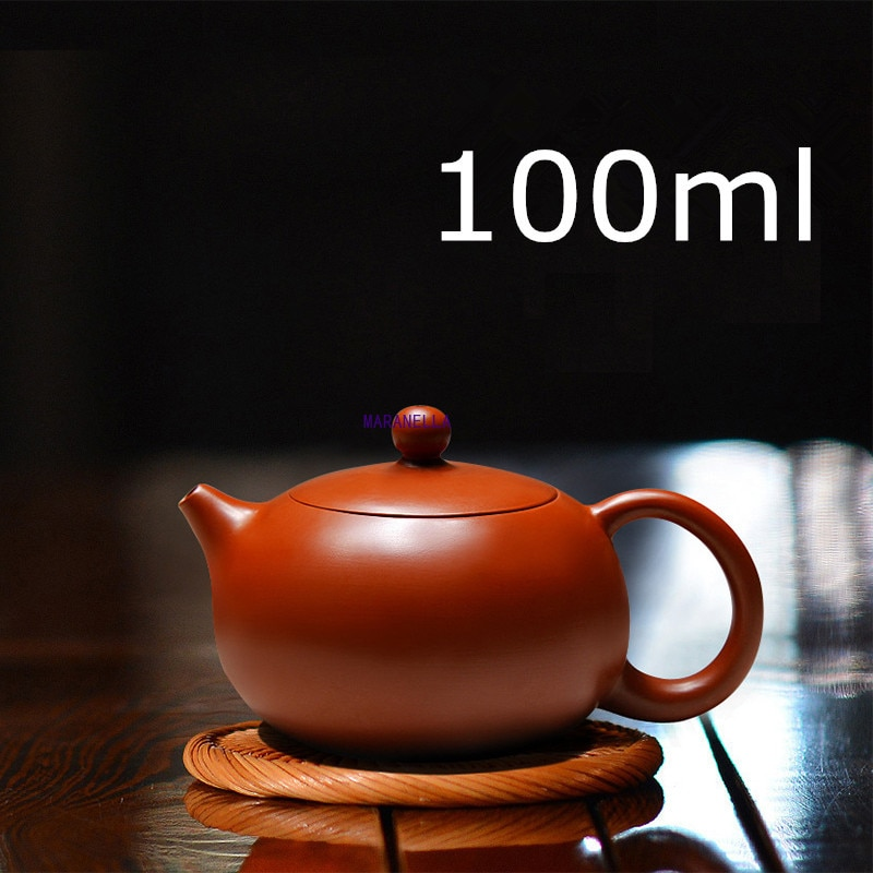 New Arrival Handmade Xi Shi Pot With Tea Infuser Teapot Red Clay  100ml Zhu Ni Porcelain Antique Chinese Ceramic Kettle yixing tea pot boutique purple clay xishi teapot ore beauty kettle master handmade teaware tea ceremony 188 ball hole filter
