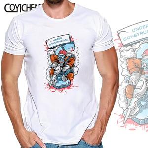 Hip hop graffiti t-shirt modal couple homme men short sleeve customize fashion large size oversized top O-neck COYICHENOL