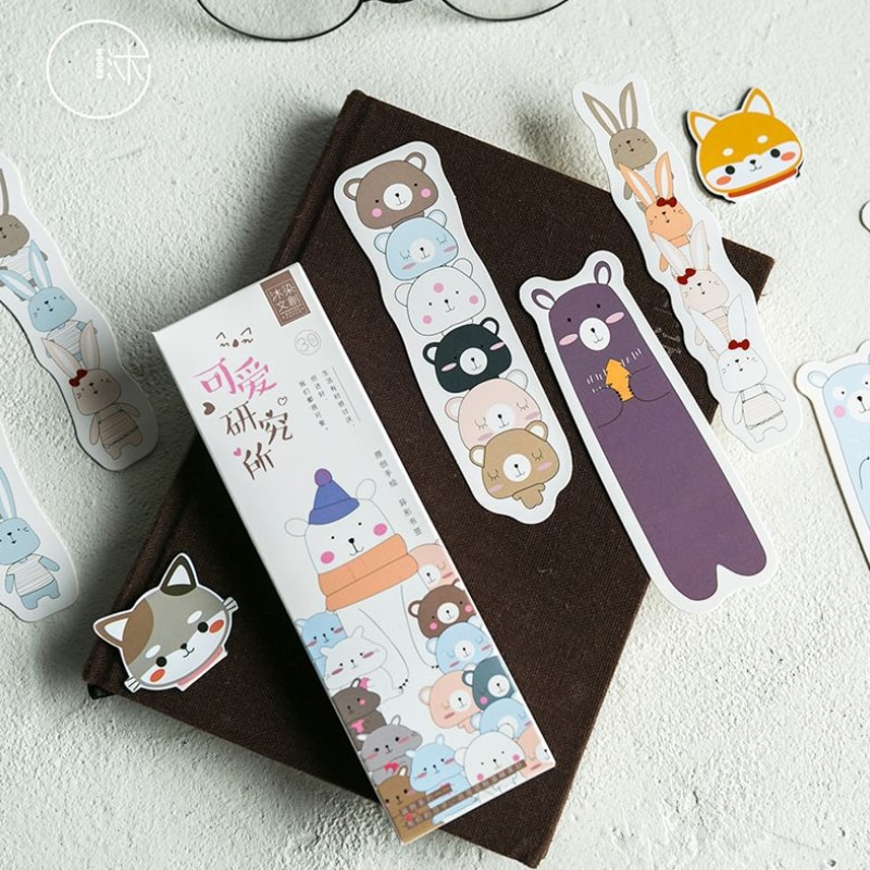 free shipping 10packs Cute Cartoon Institute Bookmark School Supplies Stationery Escolar Papelaria