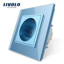 Livolo Eu Standaard Enkele Israël Stopcontact, Crystal Glass Panel, 16A Stopcontact, standaard Stopcontact, Swizss, Fr, Eu Stekkers