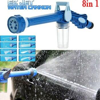 8 in 1 Nozzle Ez Jet Water Soap Cannon Dispenser Pump Spray Gun Car Washer Garden Water Guns TOT SALE