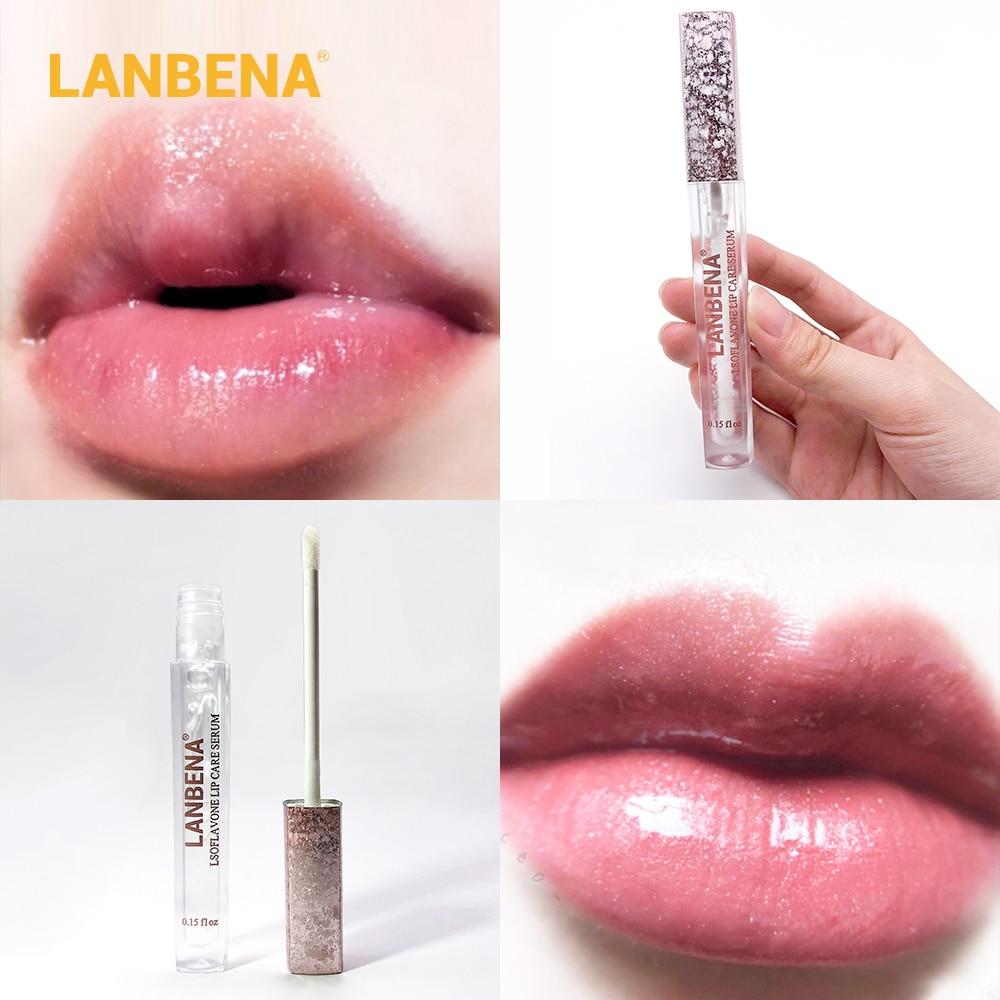LANBENA Updated Version Lip Care Serum Lip Plumper Lip Mask Increase Lip Elasticity Reduce Fine Lines Repairing Moisturizing