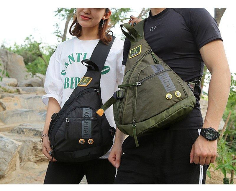 Waterproof Nylon Single Chest Bags For Men Fashion New Crossbody Bags Travel Unisex Messenger Bag iPad Pockets Male Chest Packs