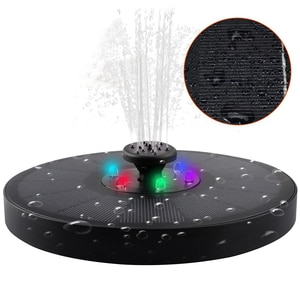 Solar Water Fountain Pump 16CM LED Lights Colorful Garden Water Fountain Pool Pond Decoration 7V/3W Solar Panel Powered Decor