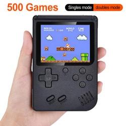 Novo built-in 500 jogos 800 mah bateria retro vídeo handheld game console 3.0 polegada jogador de jogo lcd para a criança