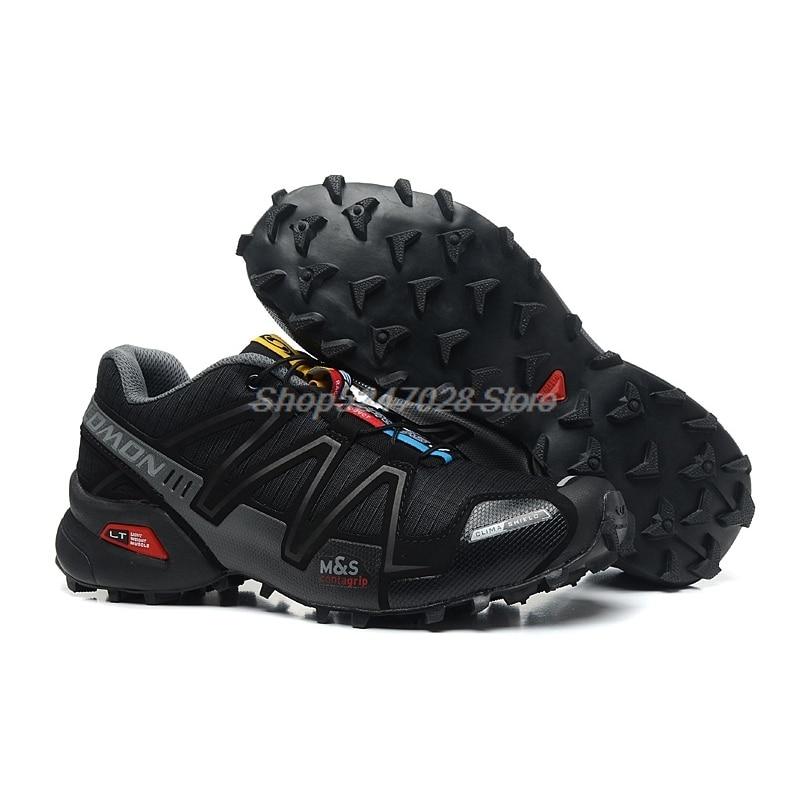 Hot Sale Salomon-Shoes Speed Cross 3 CS Outdoor Male Sports Shoes Mens Athletics Size 40-45