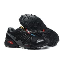 Hot Sale Salomon-Shoes Speed Cross 3 CS Outdoor Male Sports Shoes Mens Athletics Size 40-45