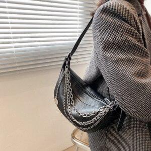 2021 New Women Chest Bag PU Leather Waist Bag Beaded Chain Pocket Messenger Bag Fashion Fanny Packs Travel Purse Phone Pouch