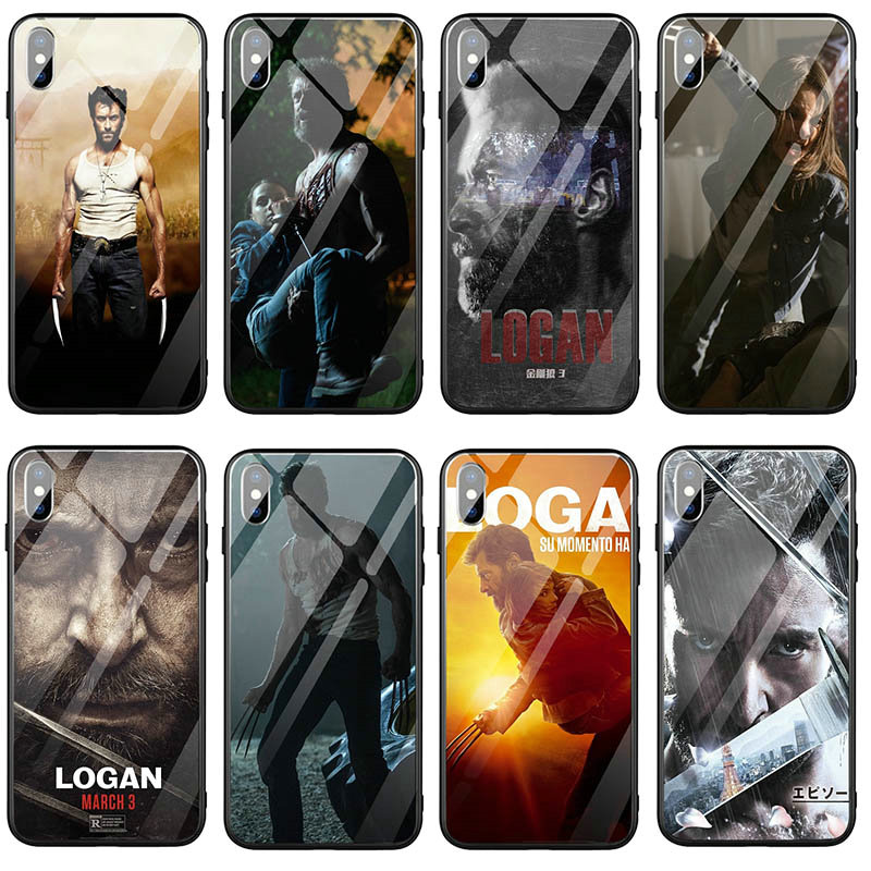 Wolverine Logan X hombres Super héroe teléfono móvil de vidrio templado para iPhone X XR XS 11 Pro Max 8 Plus 6 6s Plus 7 7 Plus