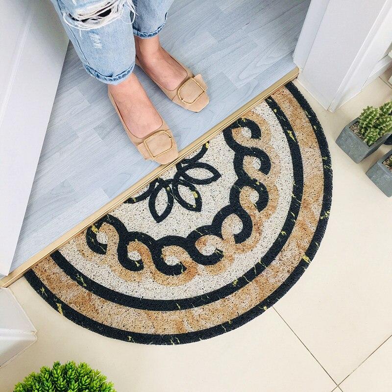 Semi-circular Marble Pattern Anti-slip Doormat Floor Mat Entrance Front Door Floor Rugs Bathroom Door Mat Door Entrance Mat