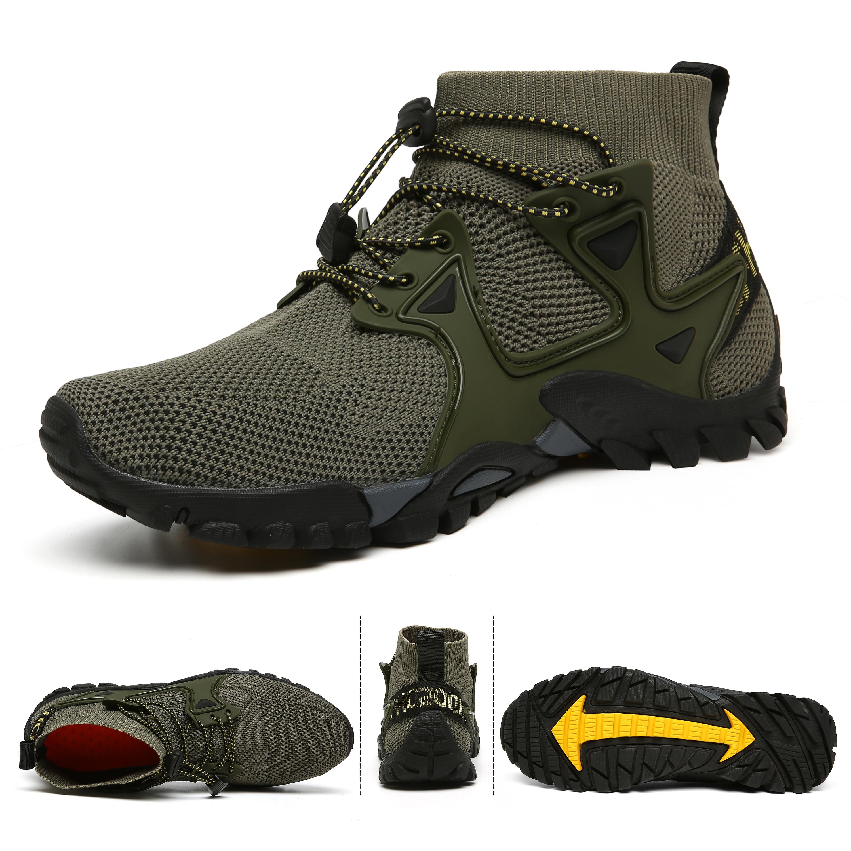 AliExpress - High-Top Breathable Water Shoes For Men Flying Weaving Aqua Sneakers Women Outdoor Sports Shoes Non-Slip Fishing Zapatillas