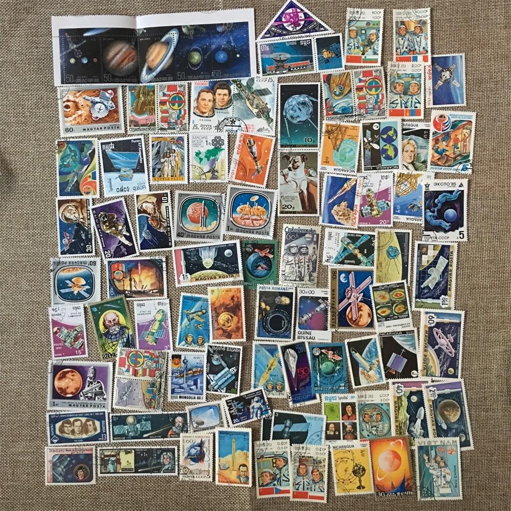 50 pièces/ensemble astronaute Satellite spatial   Différent de plusieurs pays, pas de répétition, timbre-poste inutilisé pour collection