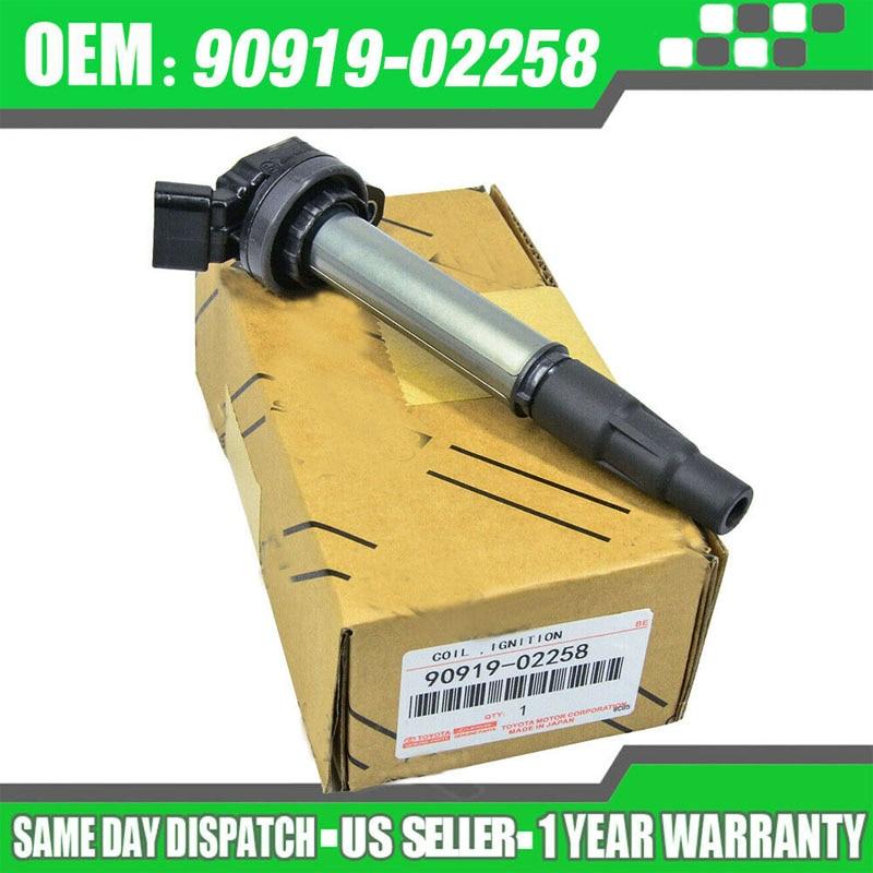 90919-02258 UF-596 C1714 UF-619 bobina de encendido para Toyota Corolla Matrix Prius Scion xD 1,8 RAV4 90919 de 02258, 9091902258 con caja